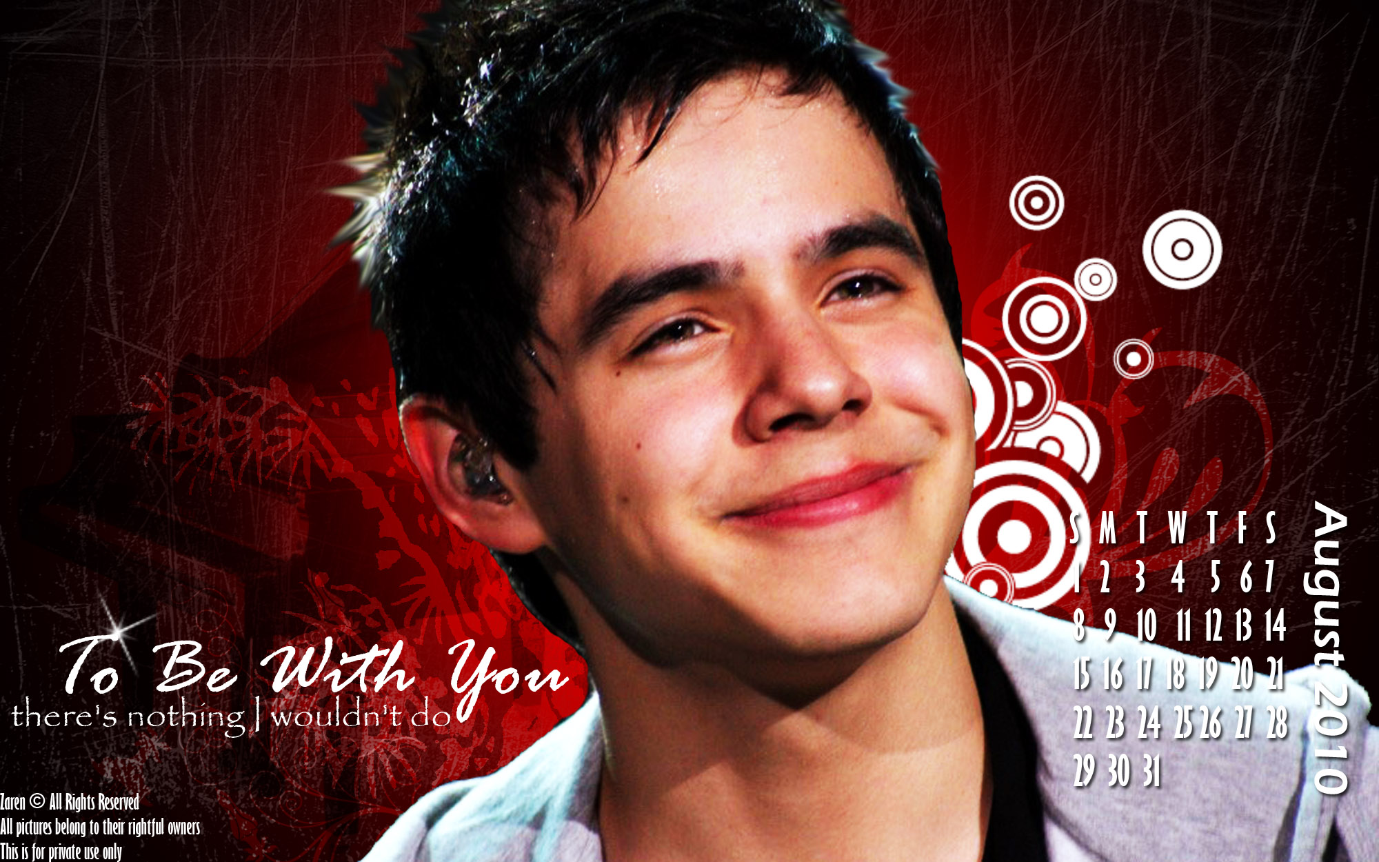 David Archuleta Wallpaper David Calendar 2010