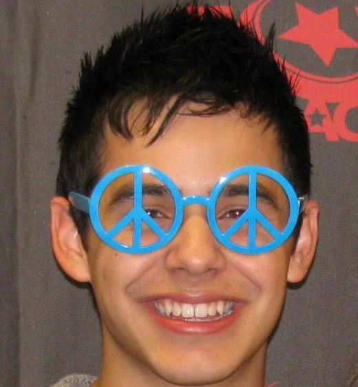 David wearing peace glasses- VIP