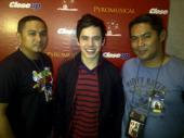 David Archuleta with TV5 media men (1)