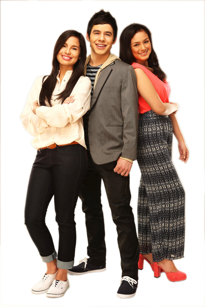 Nandito Ako photoshoot - L to R Jasmine Curtis Smith, David Archuleta and Eula Caballero)