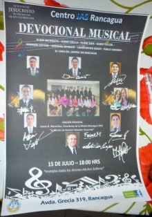 David Archuleta's autograph on Devotional Musical Poster