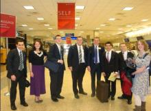 Elder Archuleta at the airport on the way to Chile