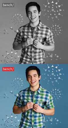 Bench photoshoot