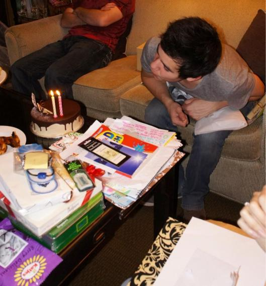 David Archuleta celebrating his birthday in Singapore 2010
