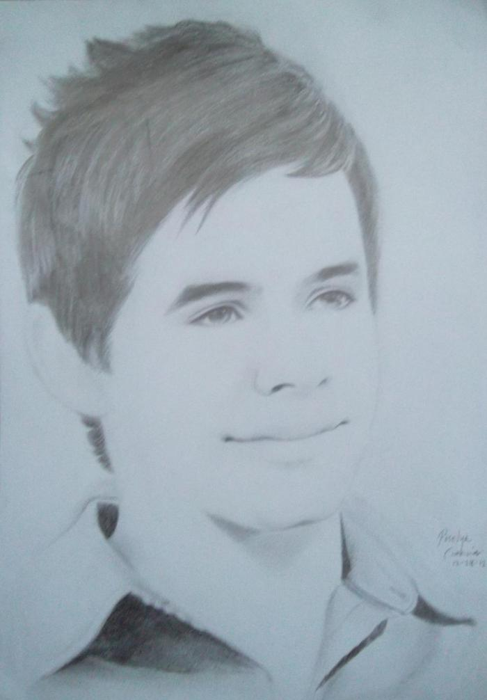 David Archuleta drawing by Roselyn Garcia
