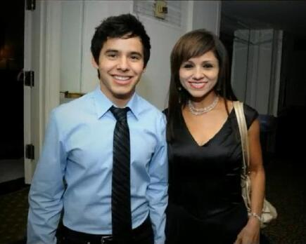 David Archuleta & mom - Noche De Gala, Washington, DC 09-13-11