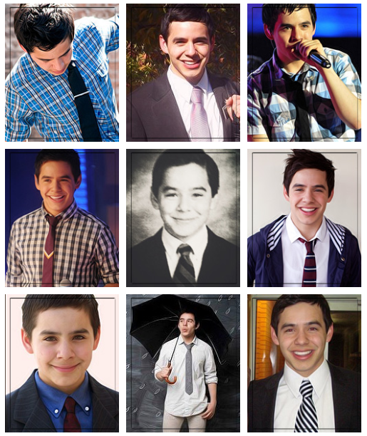 David Archuleta's ties collage by fallingstarrsx