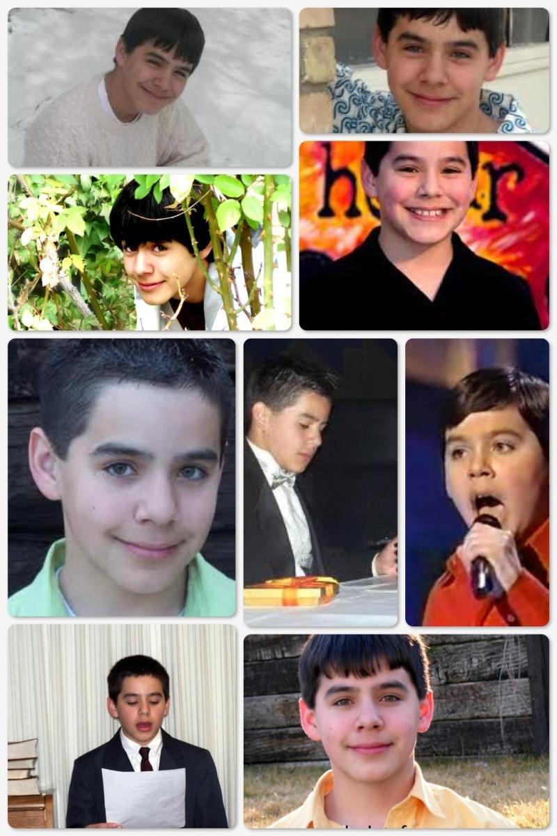 Young David Archuleta collage