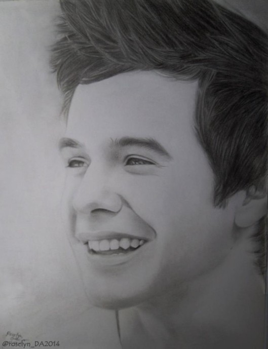 David Archuleta drawing by Roselyn