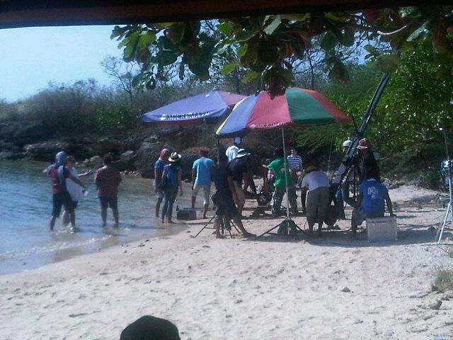 Nandito Ako bts- Batanga beach scene