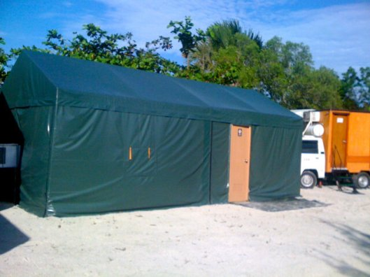Tent for Nandito Ako cast in Batangas- cr. MDW