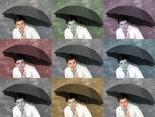 David Archuleta and umbrella collage
