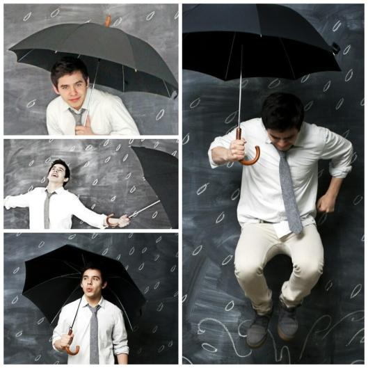 David Archuleta and umbrella