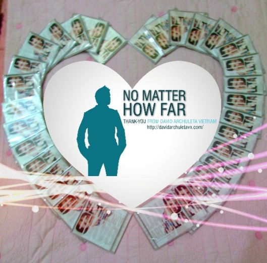 No Matter How Far - heart shape