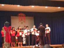 Elder Archuleta as a choir conductor- Christmas Devotional in Talca - 22 Dec 2013