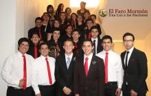 Elder David Archuleta with the Youth Orchestra of Mormon - 15 Dec 2013