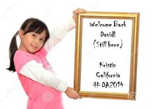 welcome back david still here