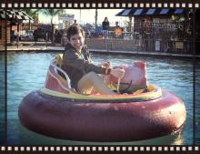 David Archuleta riding on the Bumper Boat on his birthday in 2010