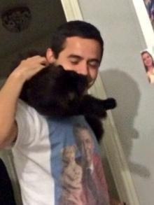 Amber's cat bites David Archuleta's face - 5/23/2014