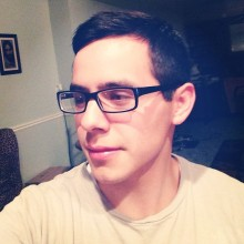 David Archuleta wearing his sister's glasses- 5-2014