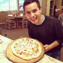 David made a pizza