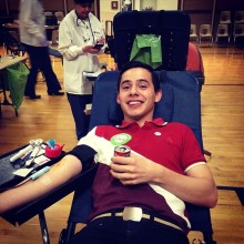 Donating blood with the Red Cross 14 May, 2014