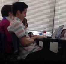 David Archuleta in class - small