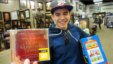 David Archuleta shopping at Deseret Book- 5 Dec 2014