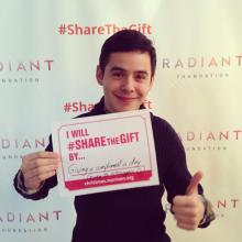 Share The Gift- giving a compliment a day (even to strangers) - David's FB