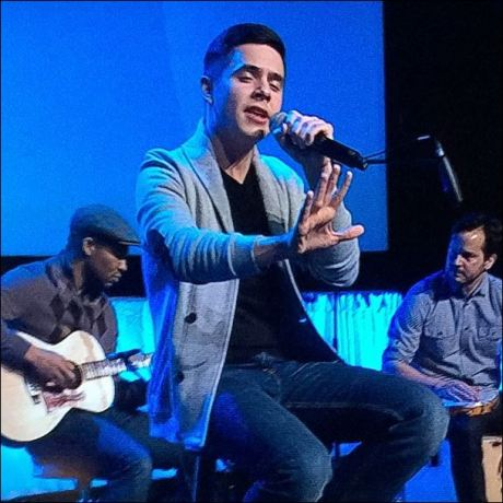 "From Kari: ""So great to have @davidarchie nack on stage. Archie's get ready for more to come!"""