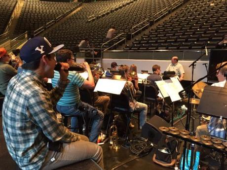 David.Archuleta.at.the. rehearsals.for.BYU's.Homecoming.Ceremonies